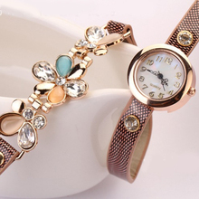 Hot Sales Popular New Retro Deisgn Flower Women's Rhinestone Quartz Analog Decoration Bracelet Wrist Watch NO181 5UVO