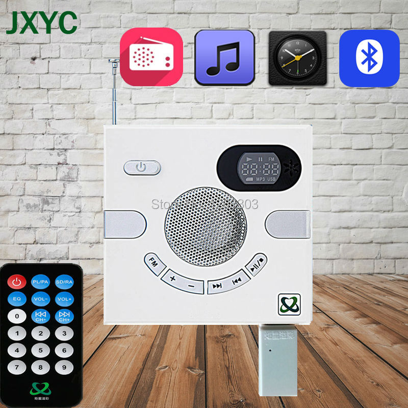 Hot Sale Portable Bluetooth Wall Speaker Switch Design AUX Multi Functional  Stereo With FM TF Card USB Time Display MP3 Player In Portable Speakers  From ...