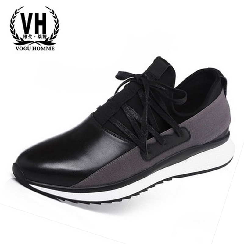 17 years of the New England Sports leisure leather shoes men's shoes popular tide wind student shoes all-match male shoes купить дешево онлайн