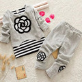 New Children's Clothing Set Baby Suit Cotton Cute Pattern Spring T-shirt+ Pants Baby Girls Clothing 2pcs 0-2 Years Free Shipping