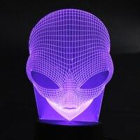 تغيير لون فريد 3d الخاصة الغريبة الشكل الصمام الجدة ليلة ضوء الديكور مصباح طاولة الإبداعية مع usb الطاقة # لو
