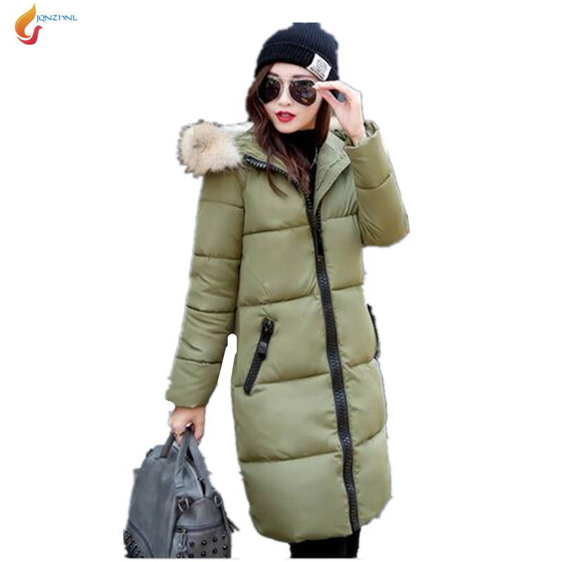цены  Women Parka down cotton jacket 2017 Winter Jacket Women thick Snow Wear Coat Lady Clothing Outerwear Female Jackets Parkas G1541