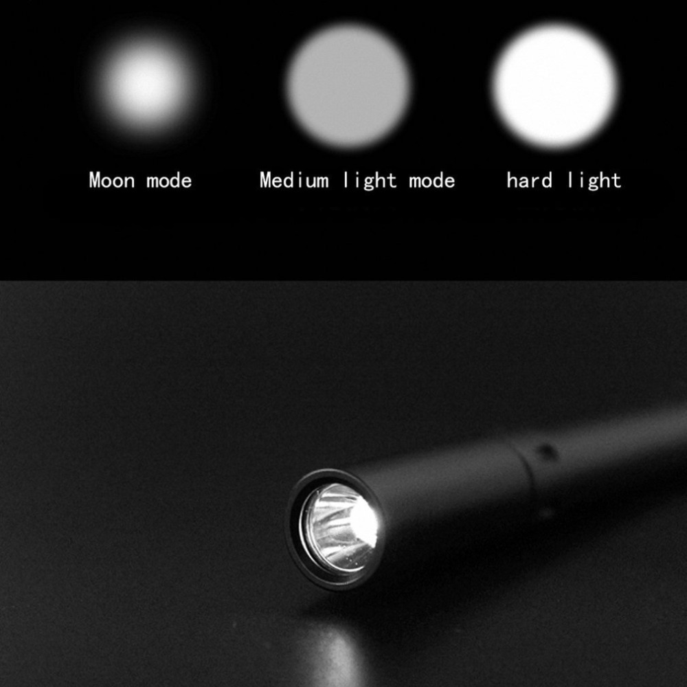 High Quality PF04 Mini Aluminium Alloy Pen Strong LED Light Anti-slip Medical Flashlight Two AAA Three Light Modes Waterproof