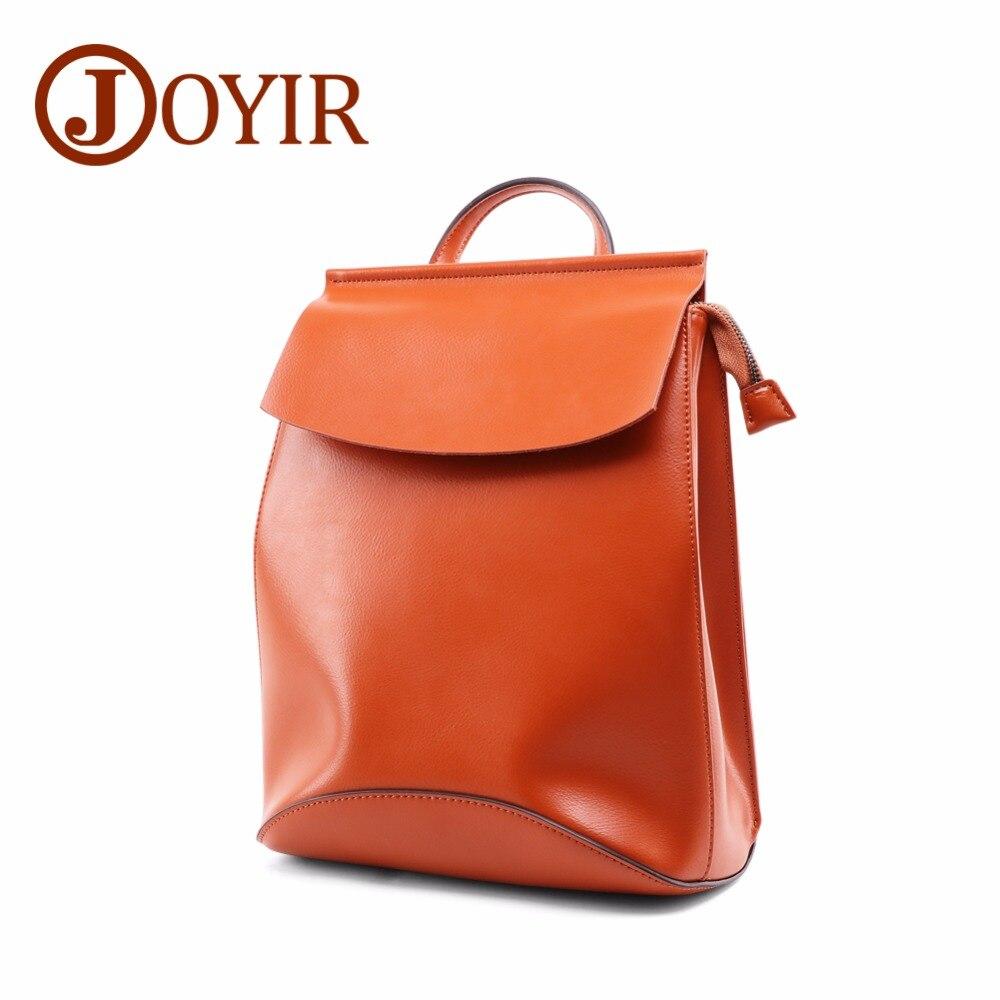JOYIR Designer Women Genuine Leather Backpack Preppy Style Girls School Bags for Teenagers Female Travel Zipper Leather Backpack все цены
