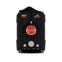 Новейший V8 360 градусов Автомобильный радар-детектор 16 полосный Россия/английская версия светодиодный антирадарный детектор XK NK Ku Ka лазерный Лидер продаж