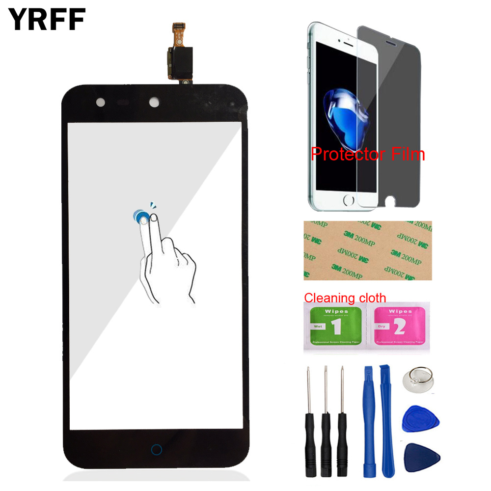 Touch Front For <font><b>ZTE</b></font> Blade X5 / Blade D3 <font><b>T630</b></font> Touch Screen Digitizer Panel Glass Mobile Tools Protecotr Film + Adhesive image