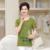 Plus size 4XL algodão solto verão T-shirt femininas 2017 NOVO ocasional BOTÃO de impressão O pescoço de manga curta feminina top camisa fêmea t