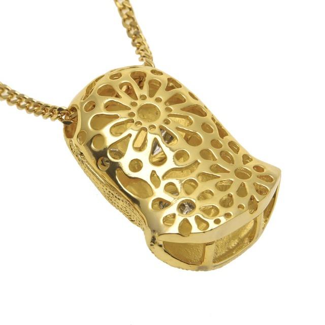 2016 New Fashion Against Terrorism headgear  Gold Pendant Cuban Chain Necklace Men or Women Super Hip Hop Jewelry
