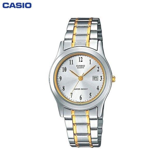 Наручные часы Casio LTP-1264PG-7B женские кварцевые на биколорном браслете