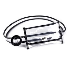 Fashion Transparent Waist Fanny Pack Belt Bag Pouch Travel Hip Bum Bag Women Small Purse fashion brand lattice ladies bag high quality waist fanny pack belt bag pouch travel hip bum bag women leather small purse