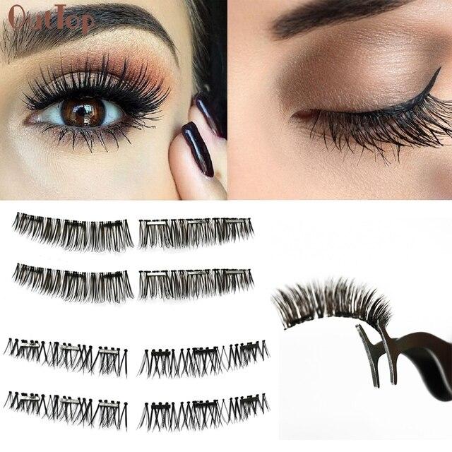 428c3bd8431 Free Ship 0.2mm Crisscross Magnetic Eyelashes Extensions False Eye Lash For  Women Girls Beauty Makeup Drop Shipping 170808