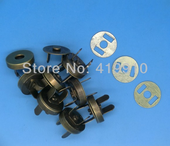 Free shipping -20 Sets Ancient Bronze Buttons Magnetic Purse Snap Clasps/ Closure for Purse Handbag 18mm M01369