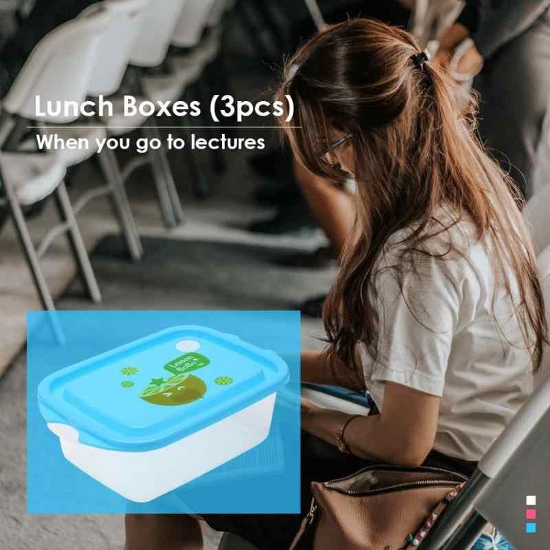 الكرتون علب الاغذية نضارة لحفظ الاطفال المحمولة مستطيل ونتشبوكس تخزين للأطفال المدرسة في الهواء الطلق الترمس للأغذية نزهة
