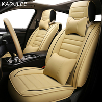 KADULEE pu leather car seat cover for lincoln mks mkx mkc mkz saab 93 95 97 2013 2012 2011 2010 car accessories car styling