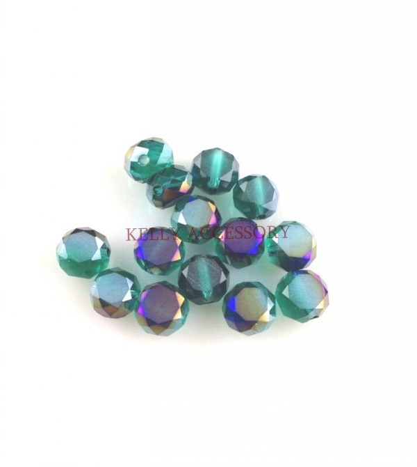 350pcs/lot Green Purple 8mm Frosted Faceted Rondelle Beads Curtains Crystal Glass Beads Charm DIY Beads In Bulk,Free Shipping