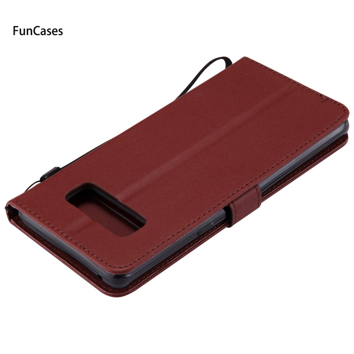 Luxurious PU Leather Case sFor Capa Samsung Note 8 Soft Silicone Phone Case Aksesuar PU Leather Case Samsung Galaxy Note 8