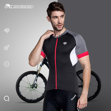 Santic Men Cycling Short Jersey Pro Fit SANTIC N-FEEL High Tech Fabric Road Bike MTB Short Sleeve Top Riding Shirt KJ6301H