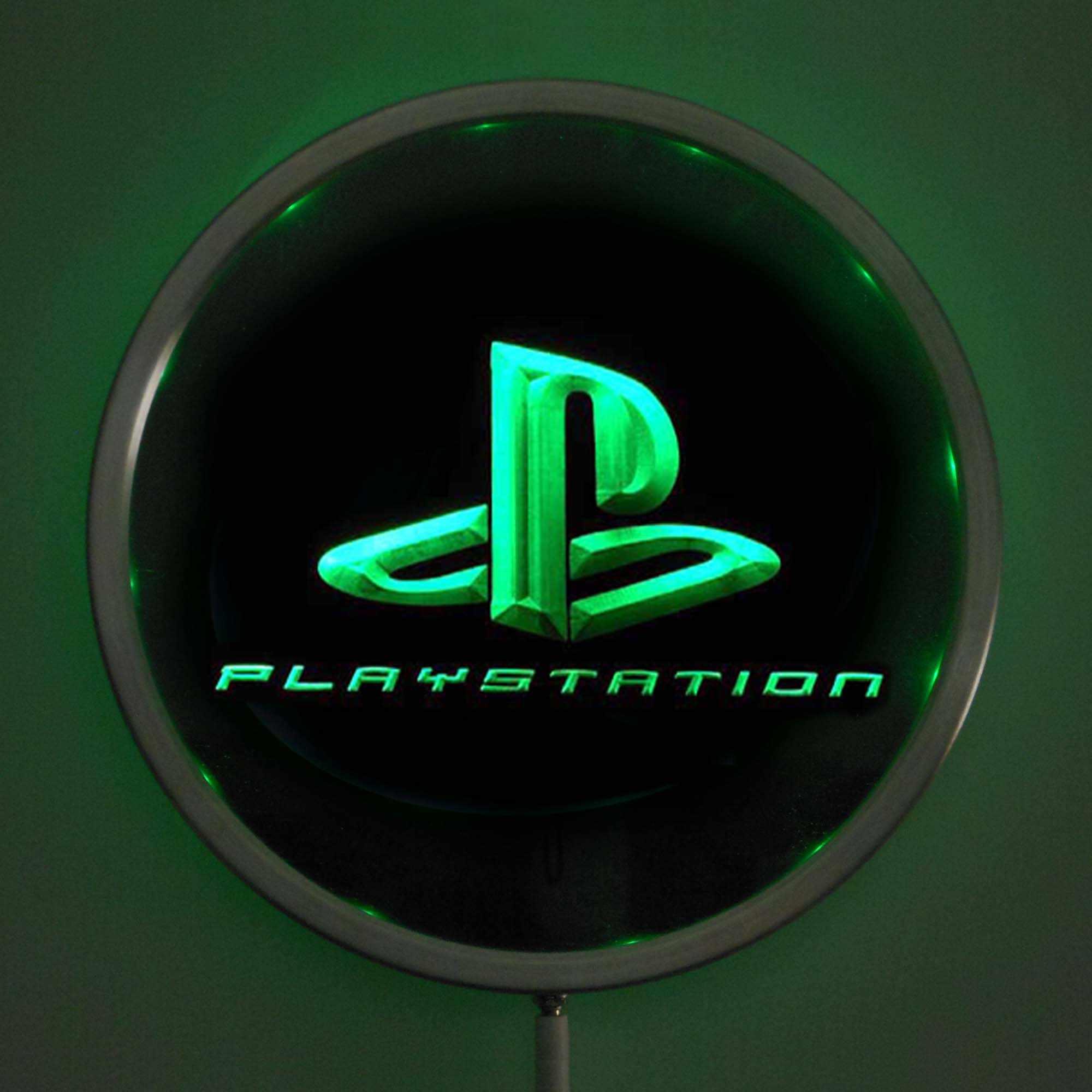 Rs-e0175 PS PlayStation Permainan LED Lampu Neon Bulat Signss 25 Cm/10 Inch-Bar Tanda-tanda dengan RGB Multi -Warna Remote Kontrol Nirkabel