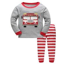 Marca crianças Pijama Define Dos Desenhos Animados teste padrão animal camisola Crianças Pijamas de algodão meninos meninas adorável suave roupas pijamas set