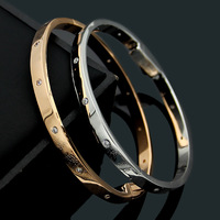 2019 TYME Fashion Titanium Stainless Steel Cuff bracelets & Bangles For Women lovers charm bracelet Men Accessories