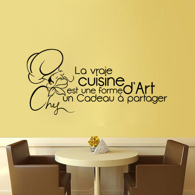 French Proverbs Chef Kitchen Rules DIY Home Decor Wall Stickers PVC ...