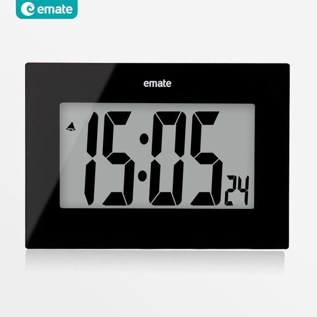 4cd66e1f7c5 Grande LED relógio digital de parede snooze alarm clock LCD design moderno  relógio de branco preto