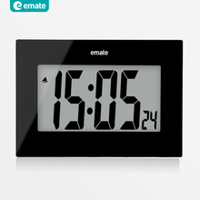 Large LED digital watch wall snooze alarm clock LCD modern design desktop clock white black wall clocks reloj de pared wekker 22