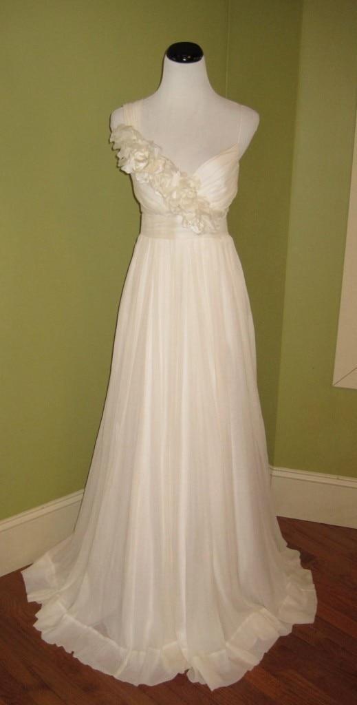 Envío gratis vestido elegante 2016 champaña fiowers más tamaño - Vestidos de fiesta de boda