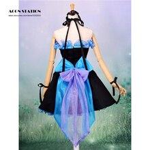 2016 Nueva Moda Vocaloid Hatsune Miku Cosplay Traje de Halloween Azul Lolita Vestido de Fiesta Musical Otros