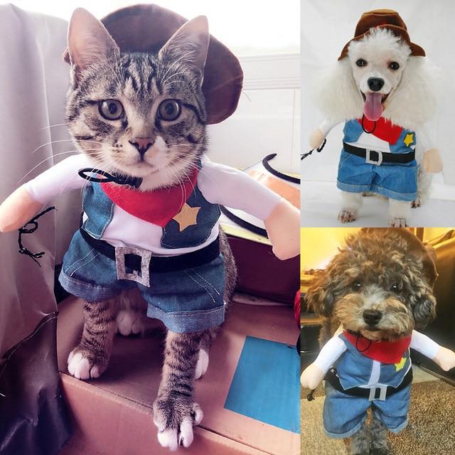 online shop pet dog cat halloween costumes dog west cowboy uniform