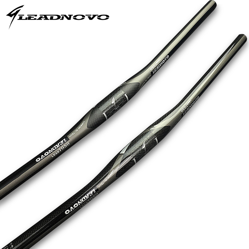 LEADNOVO High quality black 3k Carbon Mountain Bike Flat Handlebar MTB Handlebars seatpost stem alloy carbon fiber bicycle parts fcfb brand high carbon handlebar set mtb bike handlebars seatpost stem bicycle parts selle 3k matte 22 2mm