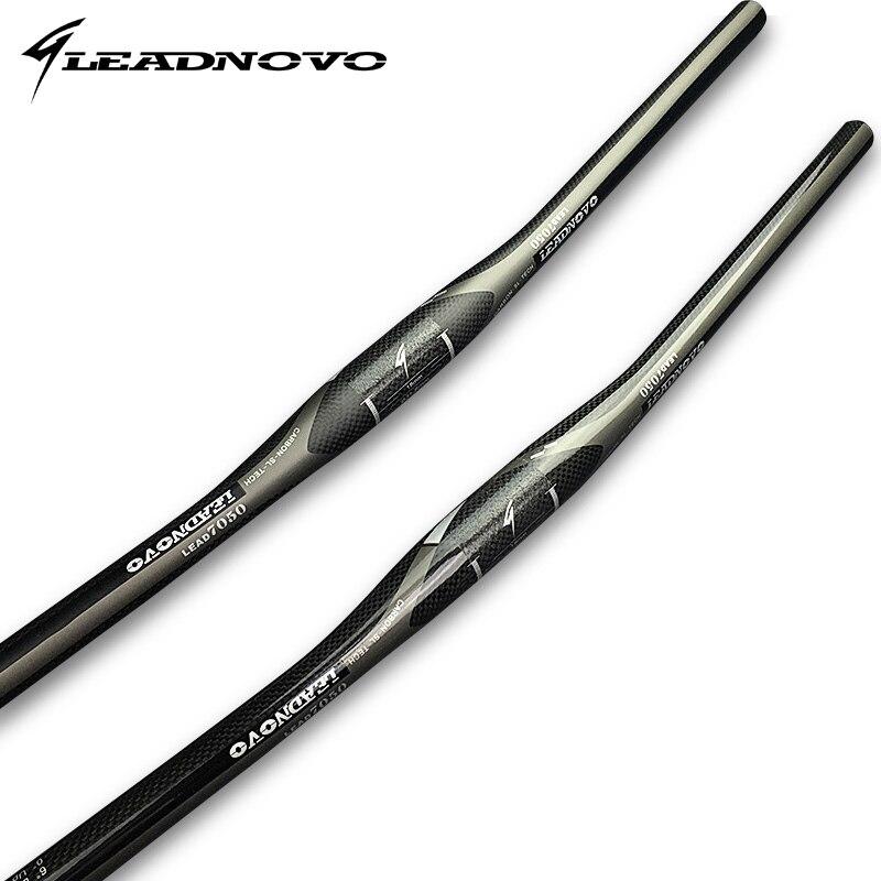 LEADNOVO haute qualité noir 3 k carbone VTT guidon plat vtt guidon tige de selle en alliage de fibre de carbone pièces de vélo
