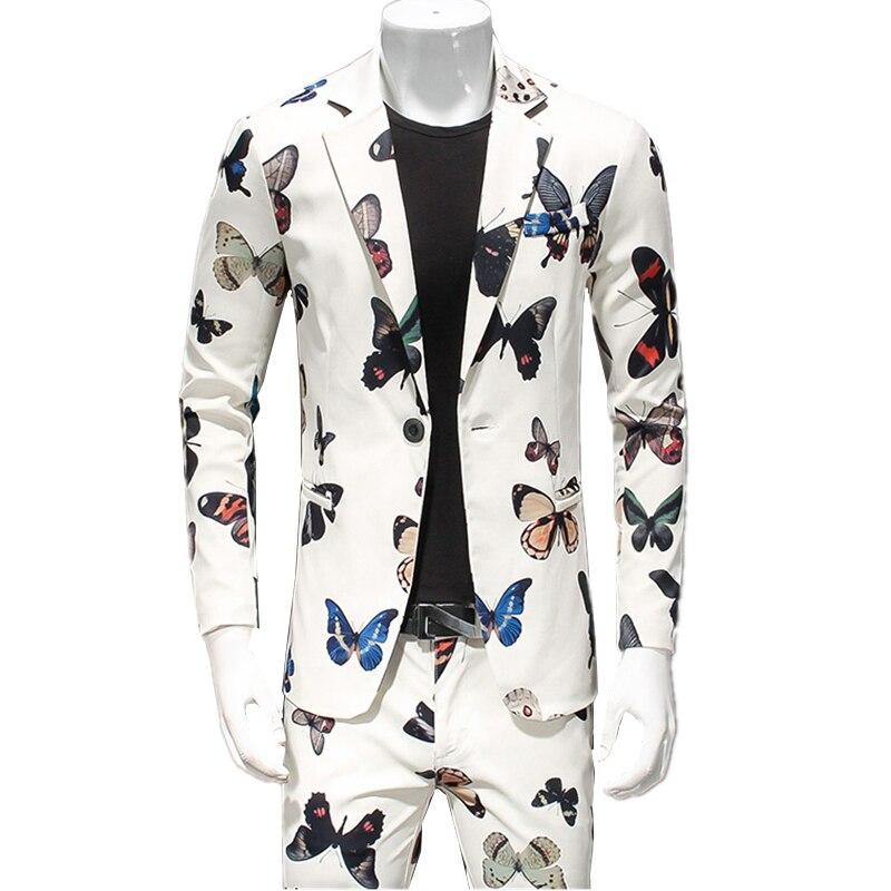100% QualitäT Männer Anzug Jacke + Hose Asien Größe S-4xl Mode Casual Männer Zwei Stück Set Schwarz Weiß Männer Blazer Hosen Attraktive Designs;