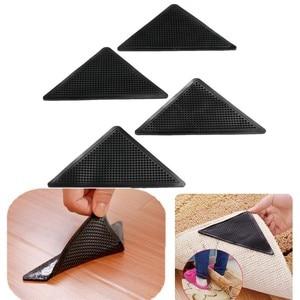 Image 2 - 4Pcs Home Floor Rug Carpet Mat Grippers Self adhesive Anti Slip Tri Sticker Reusable Washable Silicone Grip Car Perfume Pad