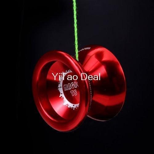 Envío libre mágico del YoYo rojo T5 aleación de aluminio profesional Yo Yo YoYo Toy