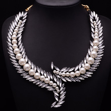N126 жемчуг perle ожерелье для женщин в стиле collares Короткие большой Макс Макси известный Элитный бренд Шарм ювелирные изделия колье Цепочки и ожерелья для женщин