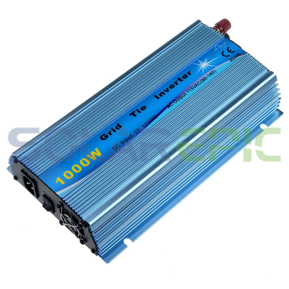 Grid Tie Inverter 1000W Pure Sine Wave Power Inverter DC20V-45V to AC110V Fit For 24V/36V For 60cells/72cells Solar Inverter 600w grid tie inverter lcd 110v pure sine wave dc to ac solar power inverter mppt 10 8v to 30v or 22v to 60v input high quality