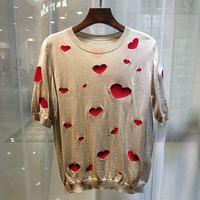 FA01843 модные Для женщин Топы И Футболки 2019 взлетно посадочной полосы Элитный бренд Европейский дизайн вечерние стиль футболки Женская одежд
