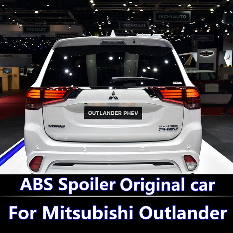 For Mitsubishi Outlander Spoiler 2013 2014 2015 2016 spoiler high quality ABS Material Car Rear Wing Primer Color Rear Spoiler for lancer ex 2010 2016 spoiler high quality abs material car rear wing primer color rear spoiler for mitsubishi lancer spoiler