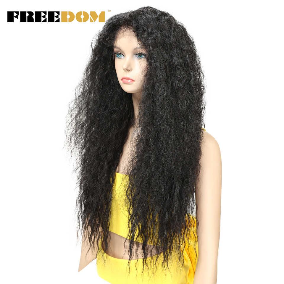 """Свободный кудрявый 30 """"длинный Омбре кружевной передний парик с детскими волосами натуральные волосы линии термостойкие синтетические волосы парики для женщин"""