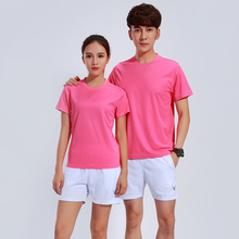 Adsmoeny 6 Colors Badminton Shirt Sets Women/Men Short Sleeve T-shirt Tennis Sets Training Suits Quick Dry Sport wear tops