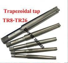 1 pièces Haute Qualité TR8 TR10 TR12 TR14 TR16 TR18 TR20 TR22 TR24 TR25 TR26 * 2/3/4/5 Trapézoïdale HSS Droite Gauche Taraud À Main,
