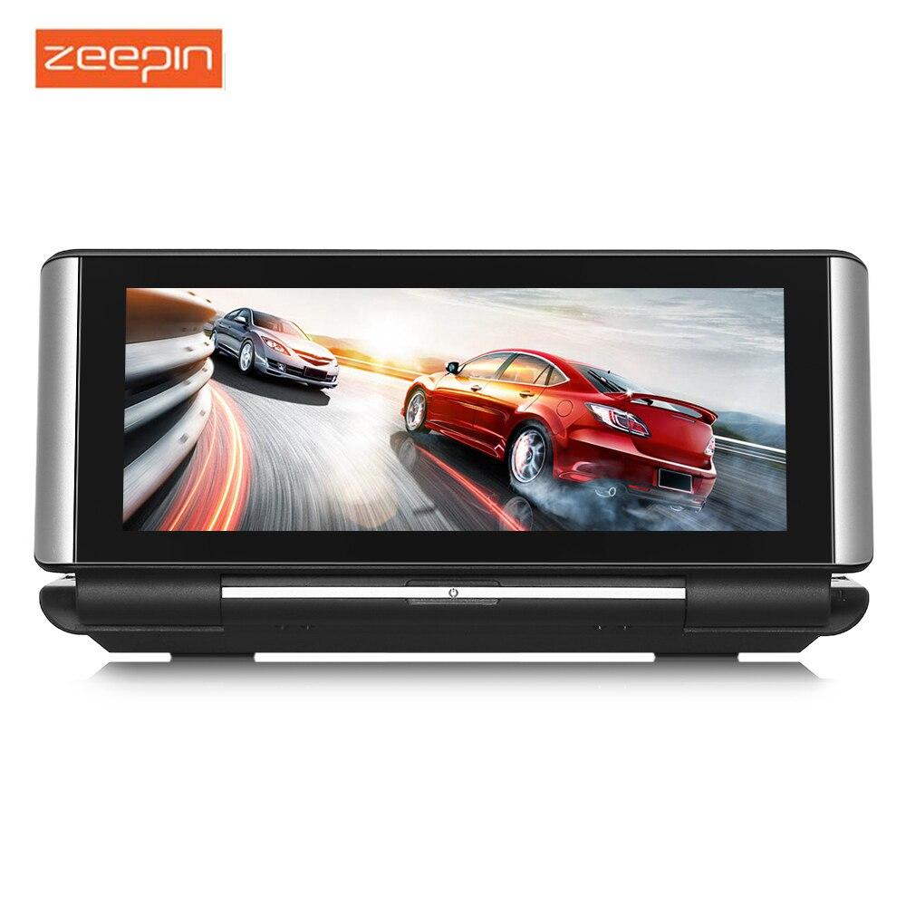ZEEPIN 683 voiture DVR 4G Android WiFi GPS rétroviseur caméra de tableau de bord avec 140 degrés 1080 P résolution enregistreur de conduite