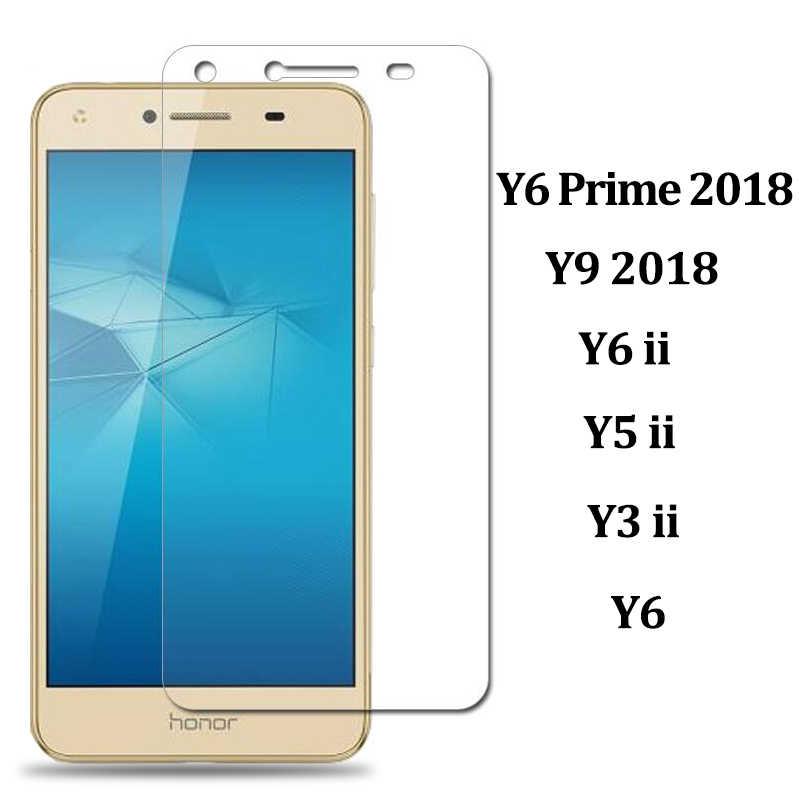 Para Huawei Y9 2018 vidrio para Huawei Y6 y5 prime 2018 vidrio protector de pantalla Y3 Y5 Y6 ii Y 3 5 6 vidrio templado 9h película
