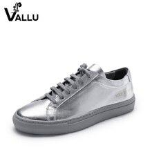 حذاء مسطح النساء جلد طبيعي 2018 الصيف الفضة أحذية امرأة الدانتيل متابعة عارضة اليدوية الشقق امرأة