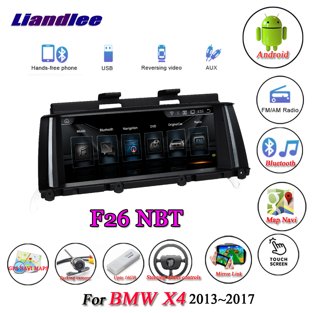 Liandlee For BMW X4 F26 2013 2017 Original NBT System Radio Wifi BT Idrive AUX Carplay