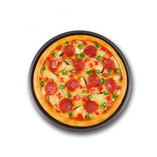 Simulation Salami Pizza Food Model Western Fake Dishes Display Decoration Handicraft Artificial Props Table Ornaments Display
