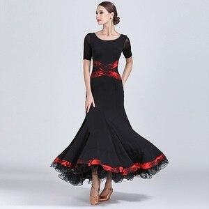 Image 1 - שחור שמלת נשפים אולם נשפים אישה בגדי ריקוד שמלת פלמנקו טנגו ואלס וינאי בנות פרינג ספרדית ללבוש שמלת ריקוד
