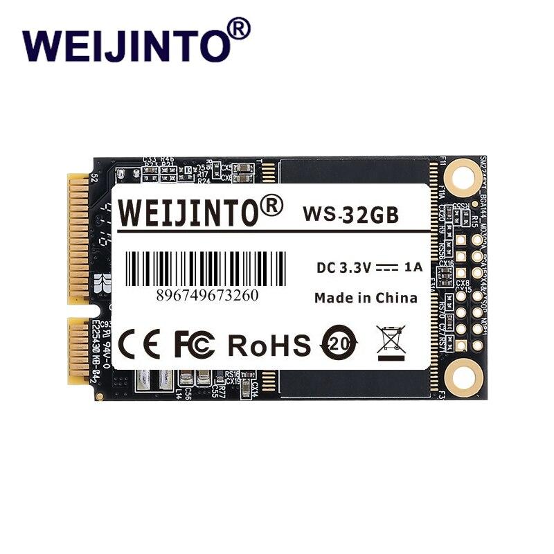 WEIJINTO 30pcs mSATA SSD 8GB 16GB 32GB 64GB Flash storage Internal Solid State Drive Msata 32GB