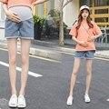 Неэластичные модные джинсовые шорты для беременных на лето 2019